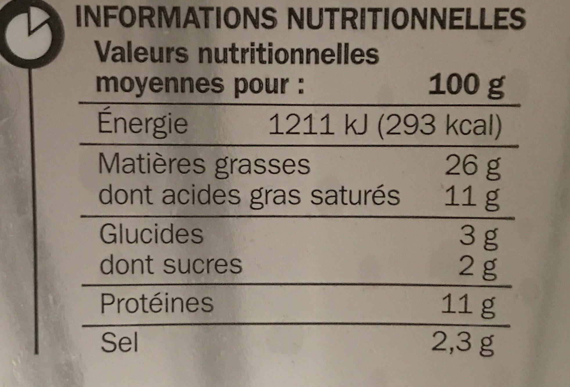 Farce à légumes - Informations nutritionnelles - fr