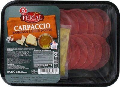 Carpaccio de boeuf et sa marinade huile d'olive / huile de colza au parmesan 18 tranches - Product