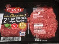 Steaks hachés 100% Charolais façon bouchère - Produit - fr