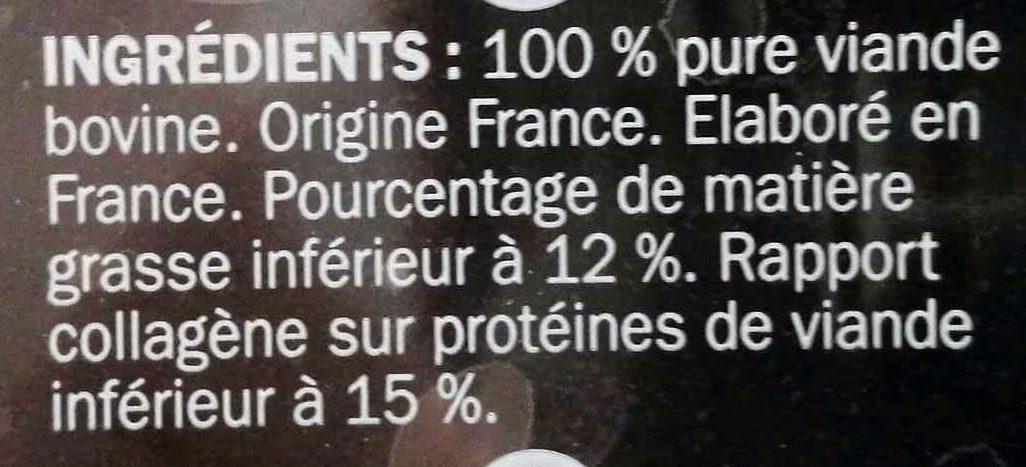 Steaks hachés 100% Charolais façon bouchère - Ingrédients - fr