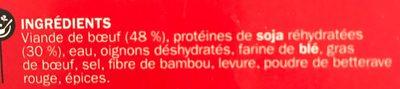 Boulettes au boeuf 15% Mat. Gr. x 30 - Ingrédients - fr