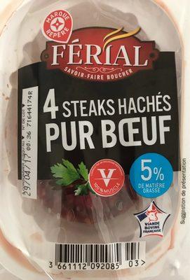 4 steaks hachés pur bœuf Férial   calories et informations ... 5bf26ad9660