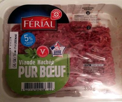 Viande Hachée Pur Bœuf 5% MG - Férial - 350g - Produit - fr