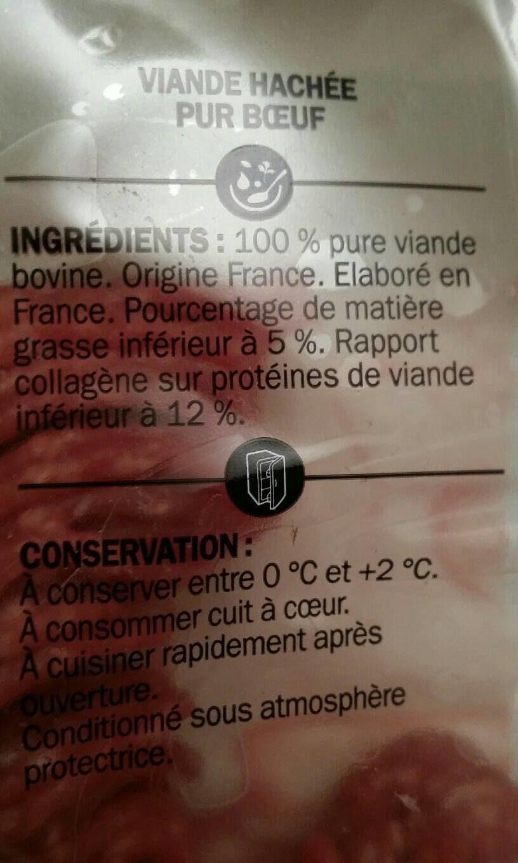 Viande Hachée Pur Bœuf 5% MG - Férial - 350g - Informations nutritionnelles - fr