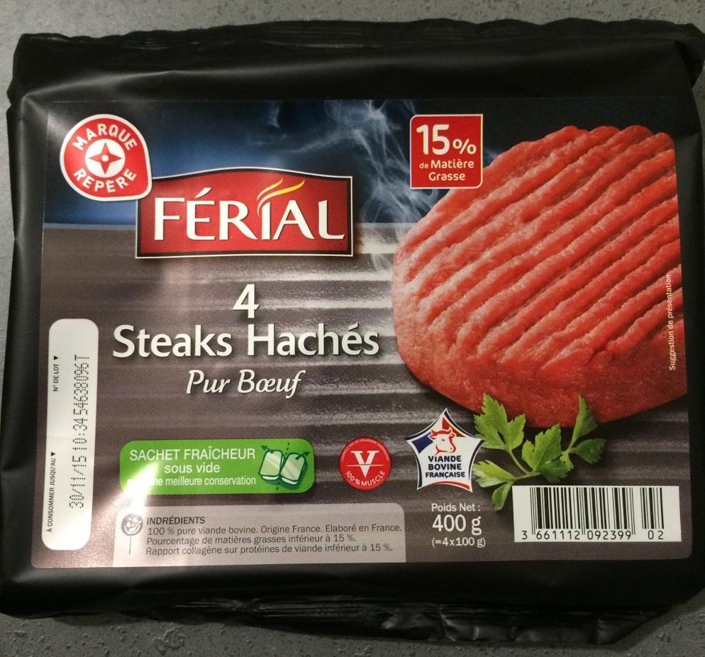 Steaks hachés de boeuf - Produit - fr