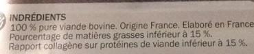 Steaks hachés de boeuf - Ingrédients - fr