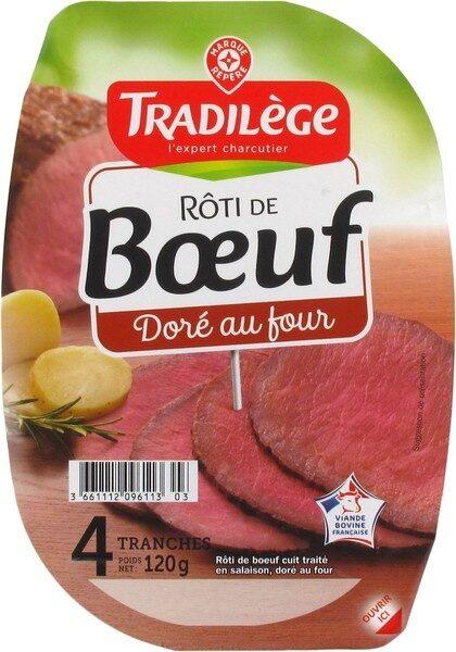 Rôti de boeuf cuit 4 tranches - Product - fr