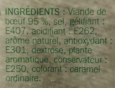 Rôti de boeuf cuit 4 tranches - Ingrediënten - fr