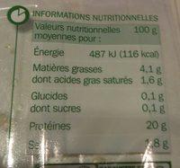 Rôti de boeuf cuit 4 tranches - Voedingswaarden - fr