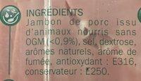 Jambon de paris fumé - Ingredients