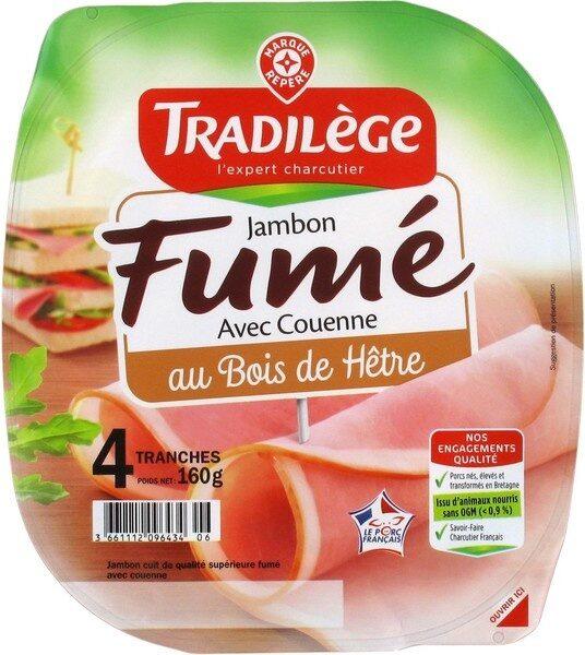 Jambon supérieur fumé 4 tranches - Product