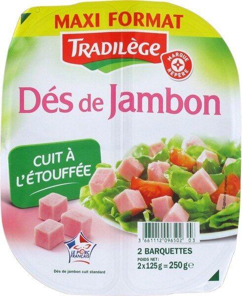 Dés de jambon maxi format 2 x 125 g - Produit - fr