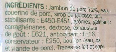 Dés de jambon maxi format 2 x 125 g - Ingrédients - fr