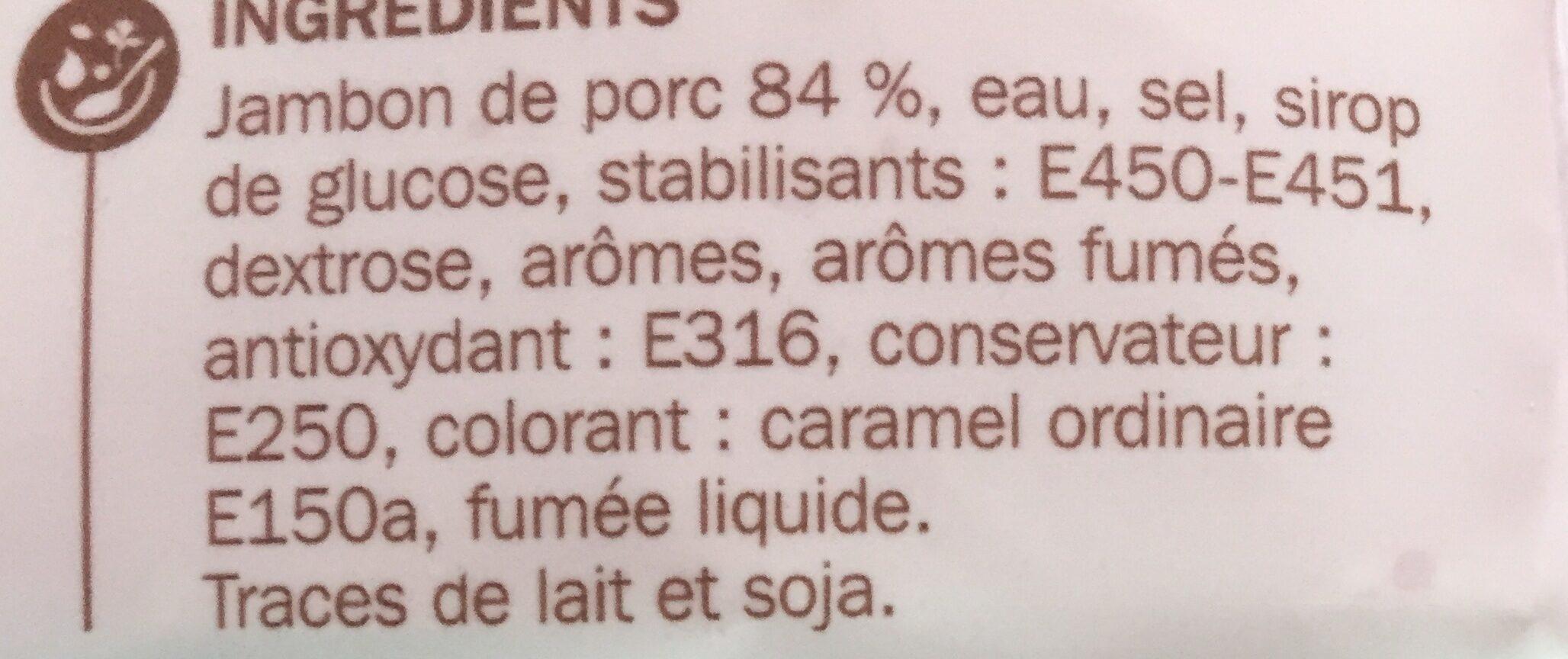 Râpé de jambon fumé 2 x 75 g - Ingrédients