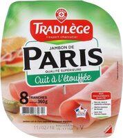 Jambon de Paris cuit à l'étouffée 8 tranches - Product