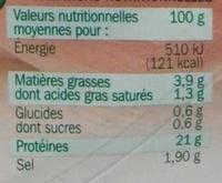 Jambon de Paris cuit à l'étouffée 8 tranches - Voedigswaarden