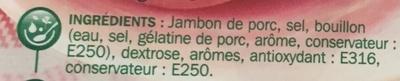 Jambon au torchon sans couenne - Ingrediënten - fr