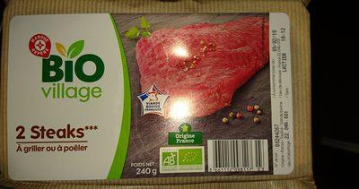 Biftecks dans la tranche bio x 2 - Ingrédients