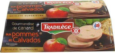 Gourmandise de canard aux pommes et calvados - Product
