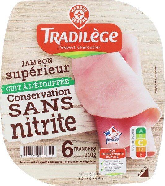 Jambon sup dd 6t sans nitrites - Product - fr