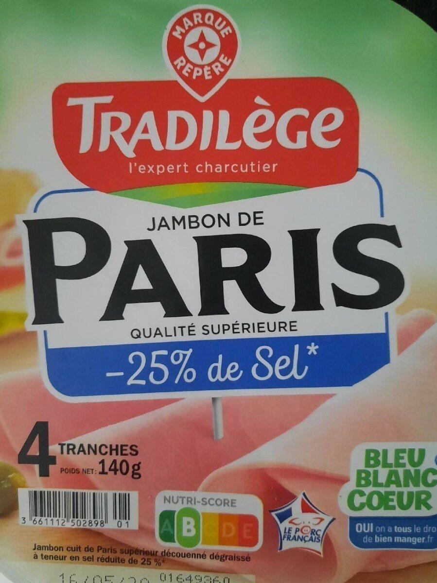 Jambon de Paris -25% de sel - Product - fr