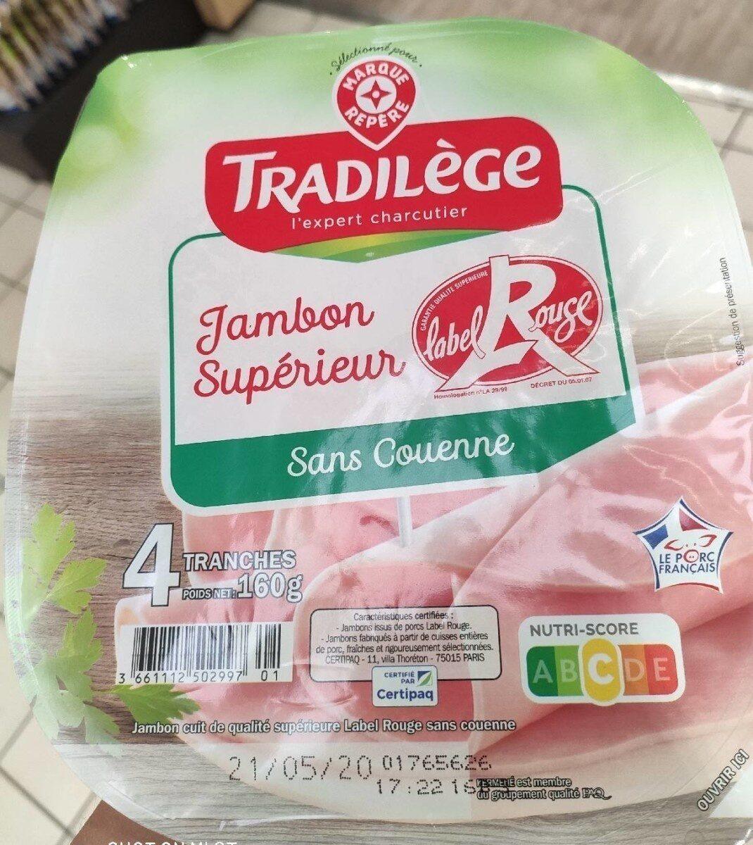 Jambon supérieur label rouge sans couenne - Prodotto - fr