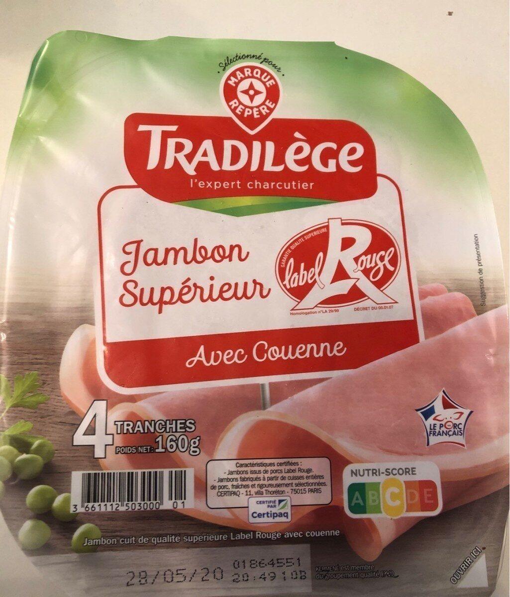 Jambon supérieur avec couenne label rouge - Prodotto - fr