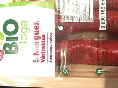 Merguez bio x5 - Ingrediënten