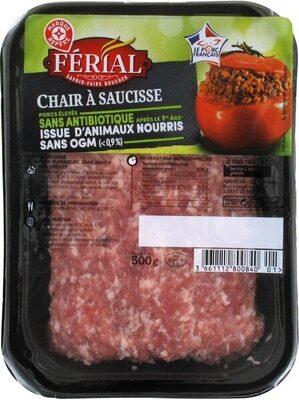 Chair à saucisses sans antibiotiques et sans OGM - Produit