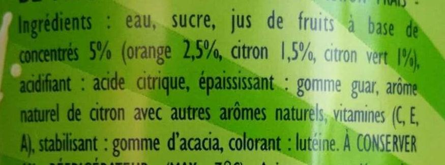 Citron - Citron Vert - Ingrédients