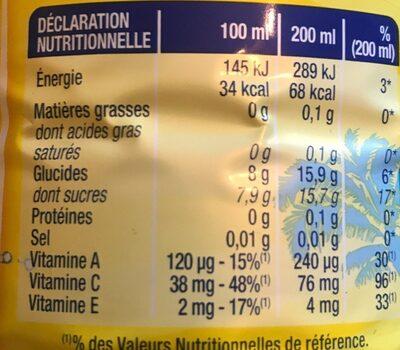 Sunny Delight Boisson aux fruits Doux California - Nutrition facts - fr