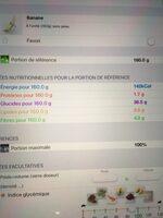 Bananes - Informations nutritionnelles - fr