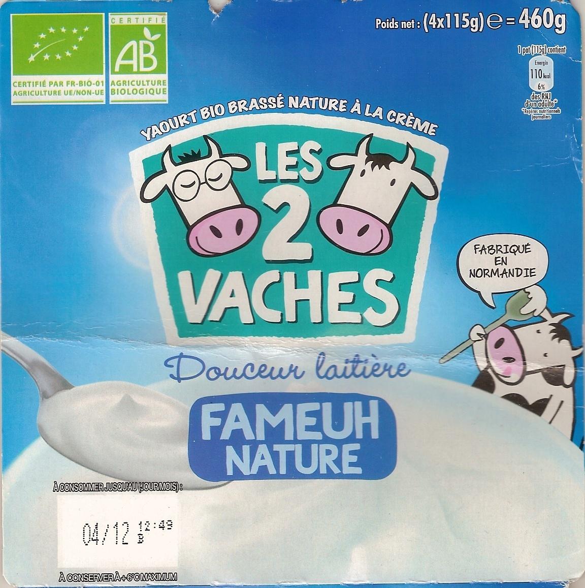 Douceur laitière, Fameuh Nature - Product - fr