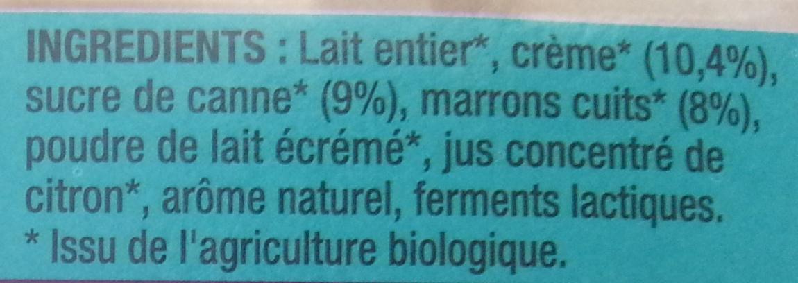 Fameuh Marron - Ingrediënten - fr