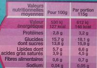 Fameuh Marron - Voedingswaarden - fr