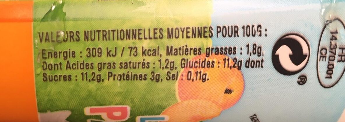 Les p'tites Pailles (3 x Fraise, 3 x Pêche) - Voedingswaarden - fr