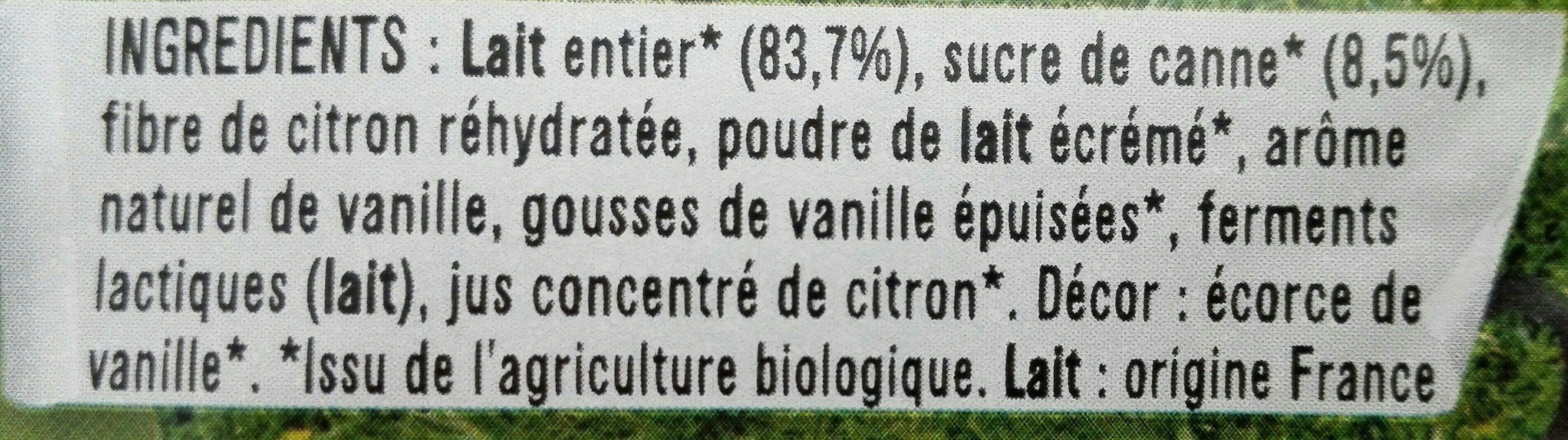 Vanille de Madagascar - Ingredientes
