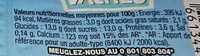 Vanille de Madagascar - Información nutricional