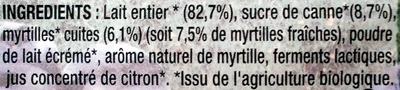 Myrtille Délicieuse - Ingrediënten - fr