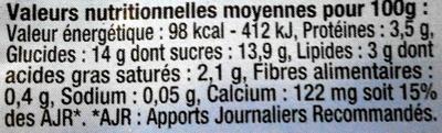 Myrtille Délicieuse - Voedingswaarden - fr