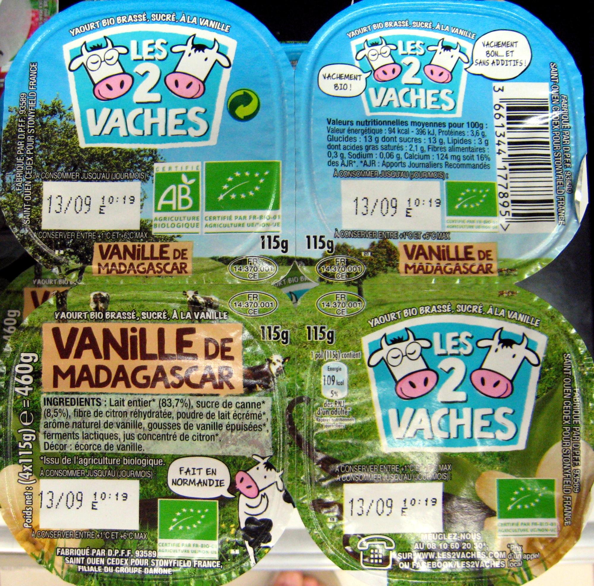 Yaourt Vanille de Madagascar - Product - fr