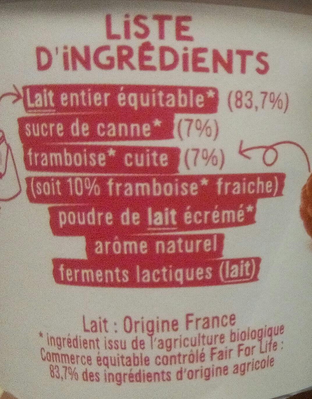 LES 2 VACHES BRASSE FRAMBOISE DELICATE 115 G X 4 - Ingredienti - fr