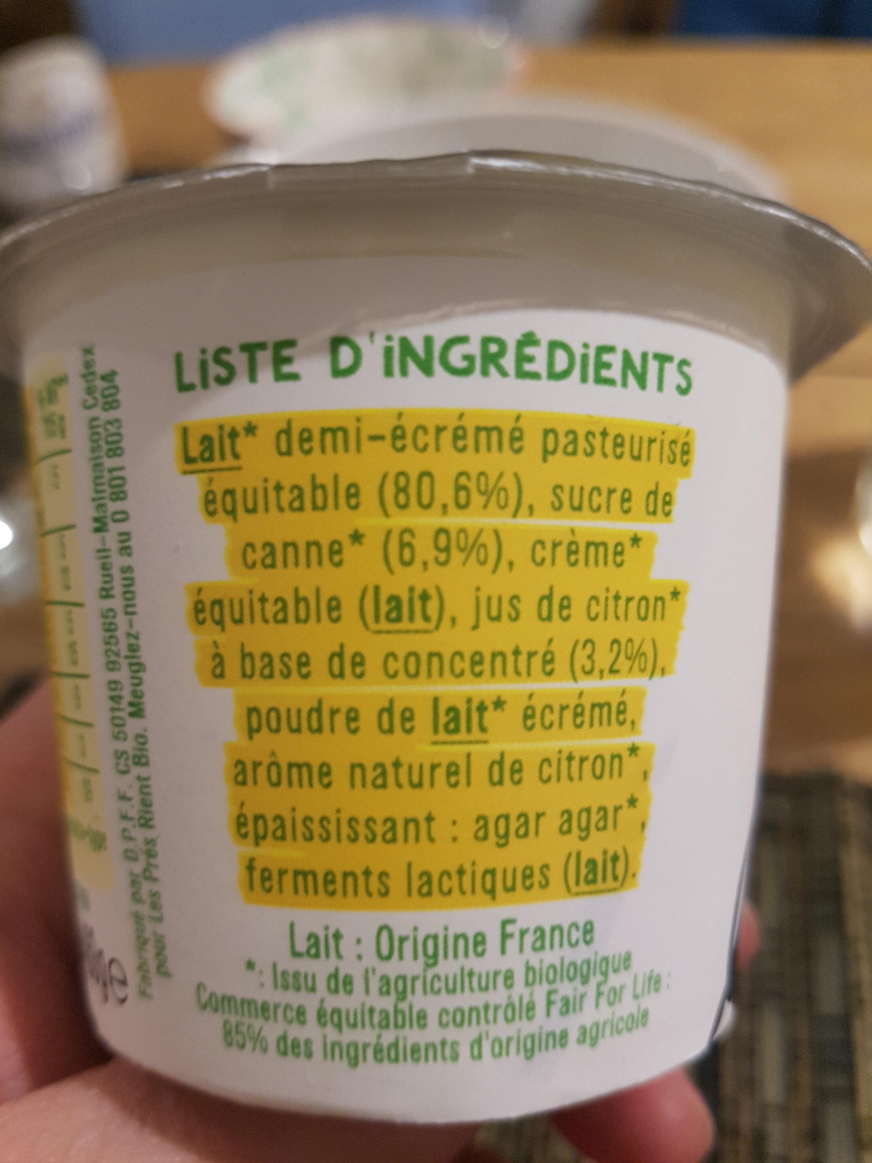 Les 2 Vaches🐮🐄 Brassé Jus de Citron🍋115Gx4 - Ingrédients - fr