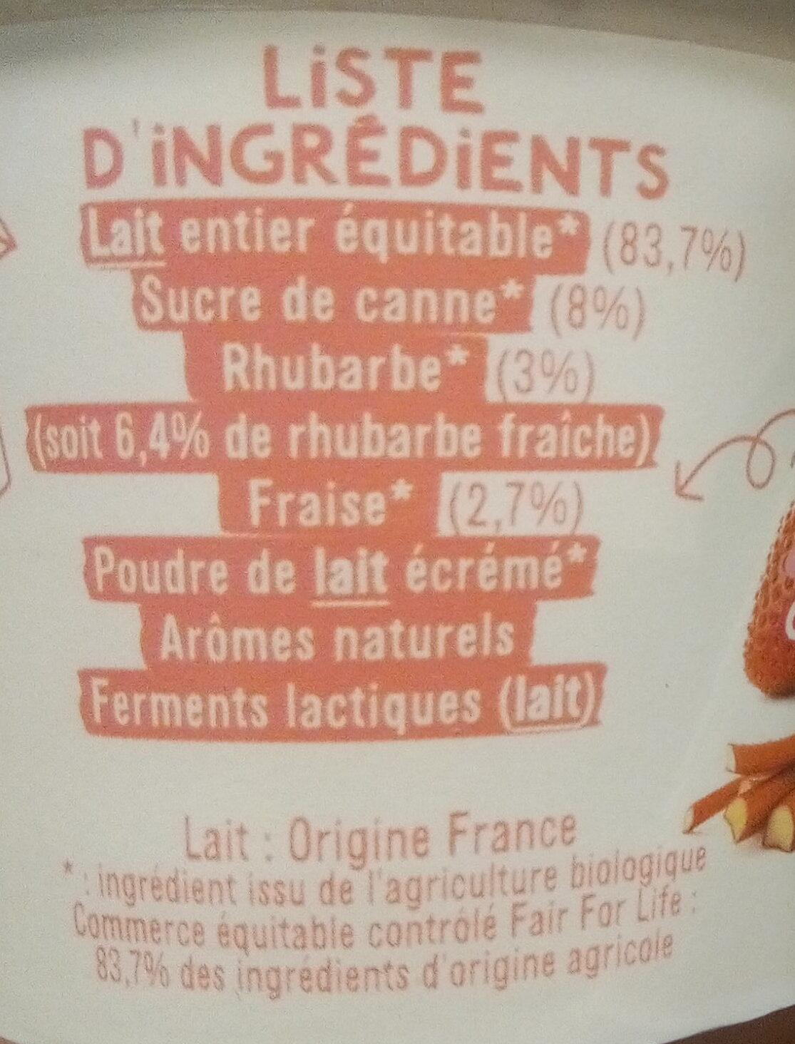 Fraise-rhubarbe - Ingredients - fr