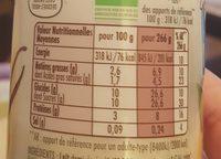 Yaourt bio à boire sucré à la vanille de Madagascar - Voedingswaarden - fr