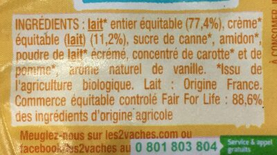 Cremeuh vanille - Ingrédients - fr