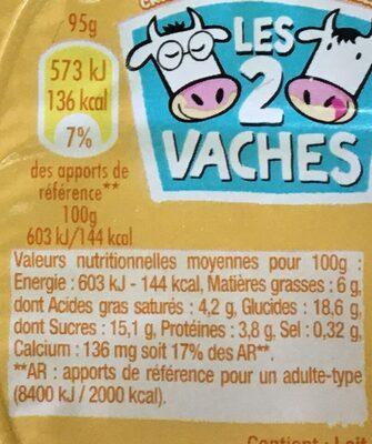 Cremeuh vanille - Informations nutritionnelles - fr