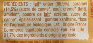 Crèmeuh CARAMEL - Ingrédients - fr