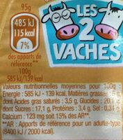 Crèmeuh CARAMEL - Informations nutritionnelles - fr