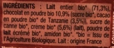 LES 2 VACHES CREMEUH CHOCOLAT 95X4 - Ingredients - fr